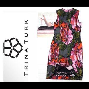 Stunning Trina Turk Floral Print Cocktail Dress